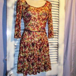 American Rag Med Lace Overlay Dress